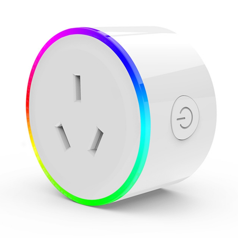 AU smart plug with RGB Light separated control outlet or RGB